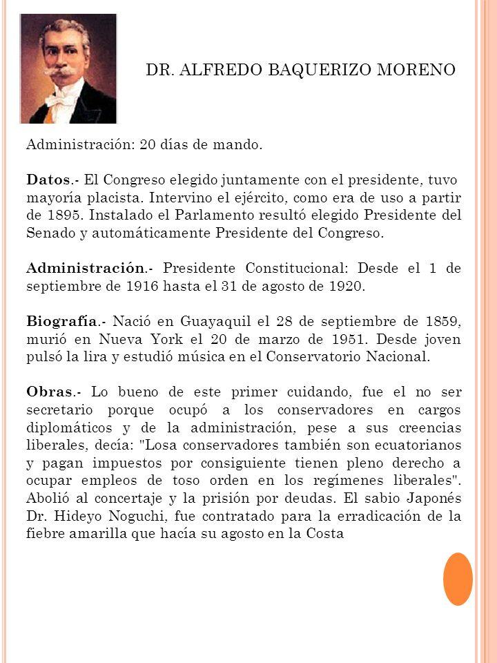 DR. ALFREDO BAQUERIZO MORENO