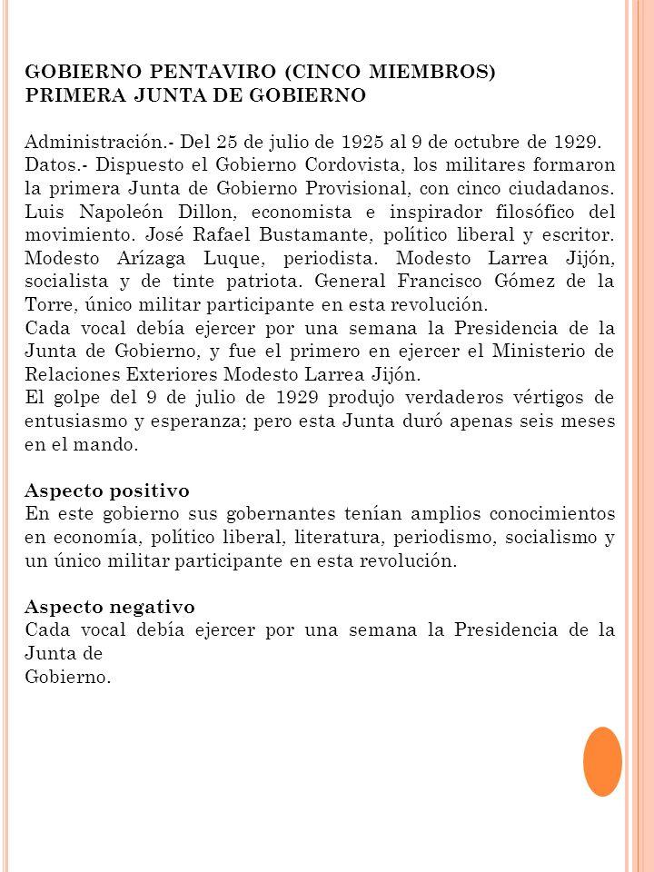 GOBIERNO PENTAVIRO (CINCO MIEMBROS)