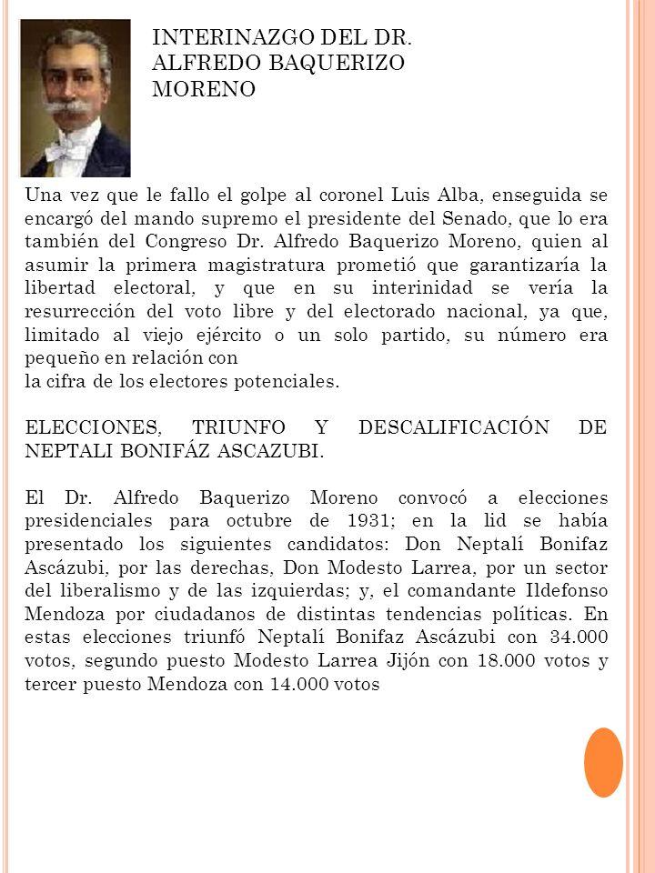 INTERINAZGO DEL DR. ALFREDO BAQUERIZO MORENO