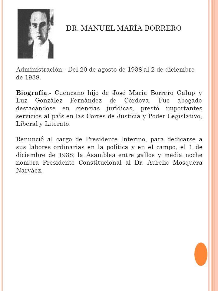 DR. MANUEL MARÍA BORRERO