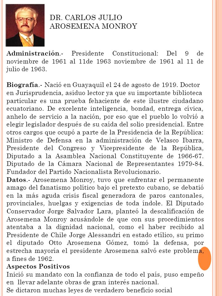 DR. CARLOS JULIO AROSEMENA MONROY