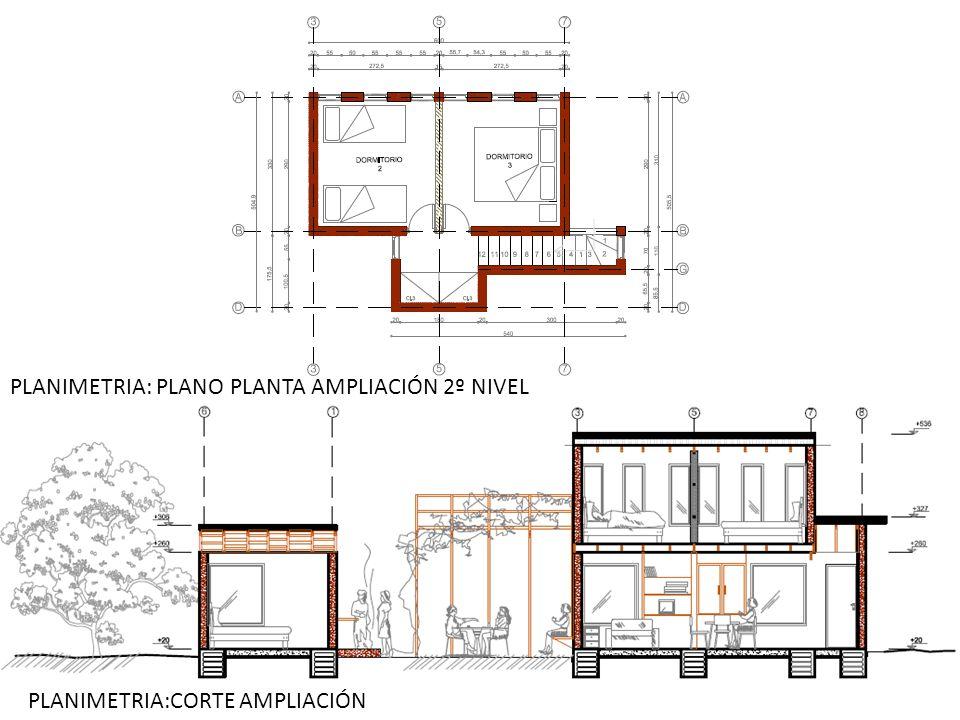 PLANIMETRIA: PLANO PLANTA AMPLIACIÓN 2º NIVEL