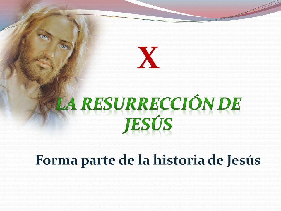 La resurrección de Jesús Forma parte de la historia de Jesús