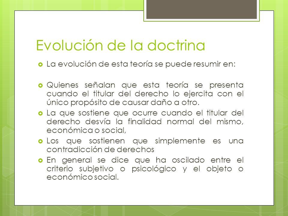 Evolución de la doctrina