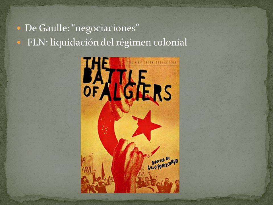De Gaulle: negociaciones