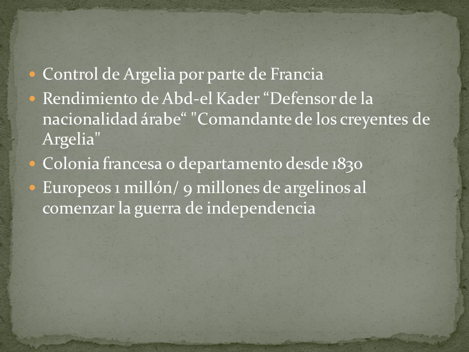 Control de Argelia por parte de Francia