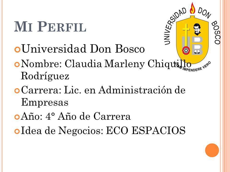 Mi Perfil Universidad Don Bosco