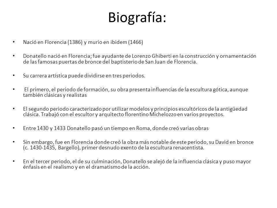 Biografía: Nació en Florencia (1386) y murio en ibidem (1466)