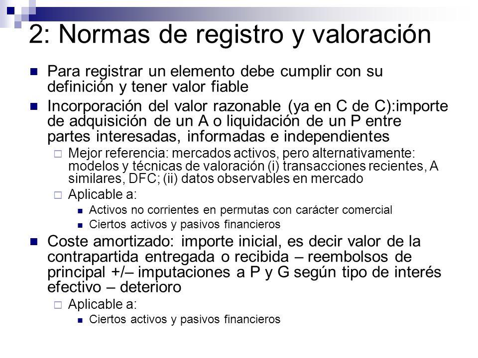 2: Normas de registro y valoración
