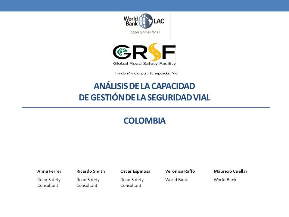 Análisis de la Capacidad de Gestión de la Seguridad Vial COLOMBIA