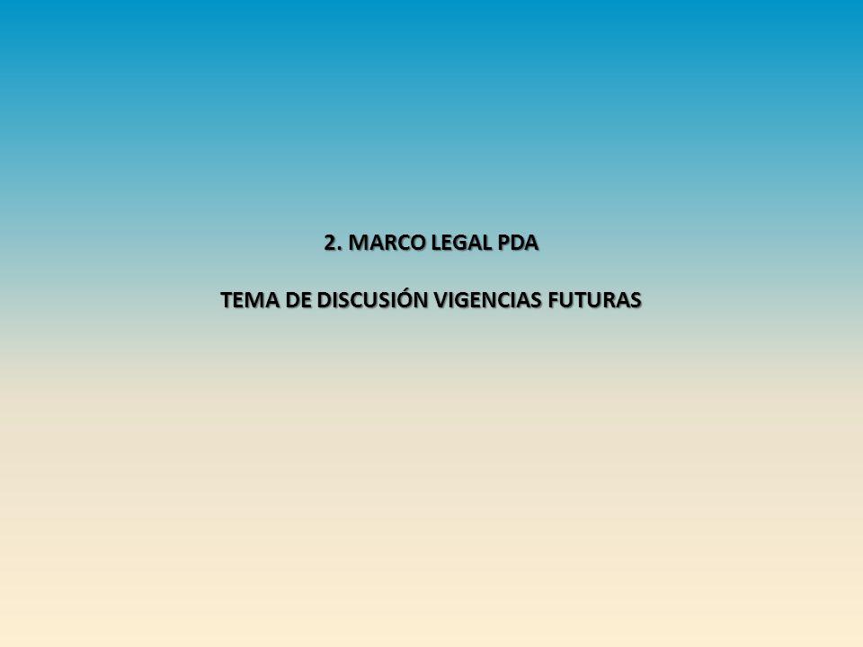TEMA DE DISCUSIÓN VIGENCIAS FUTURAS