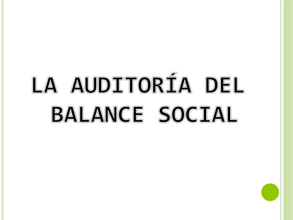 LA AUDITORÍA DEL BALANCE SOCIAL
