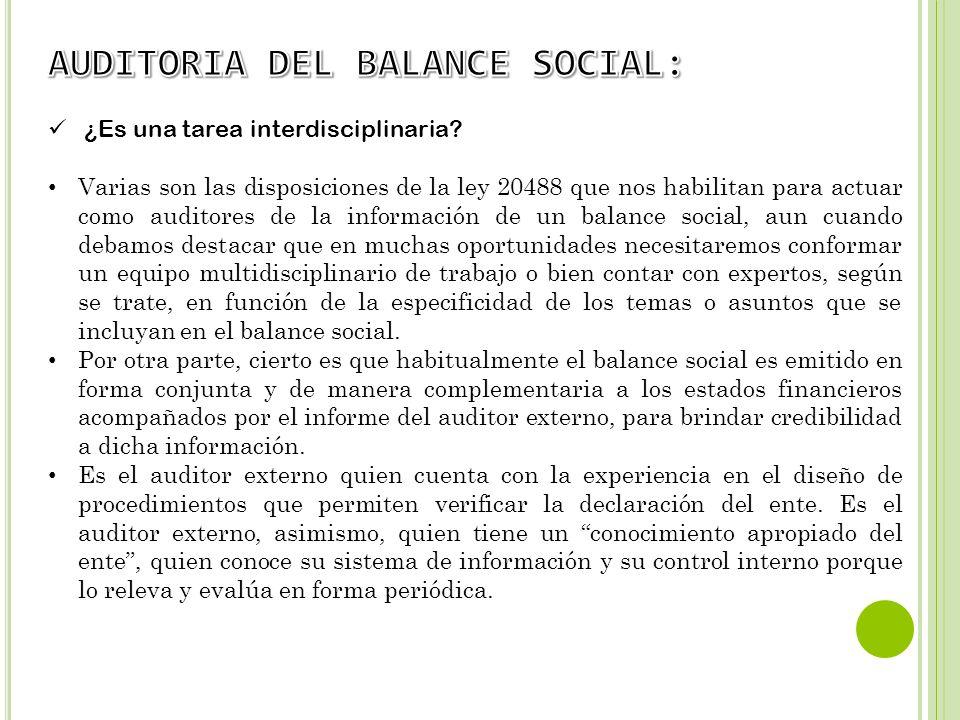 AUDITORIA DEL BALANCE SOCIAL: