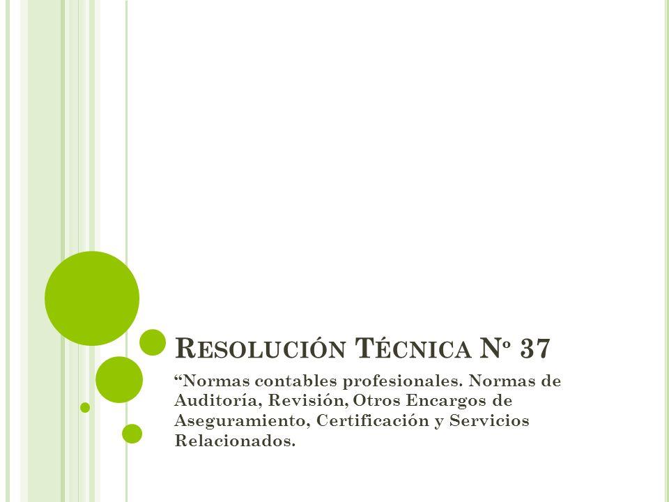 Resolución Técnica Nº 37