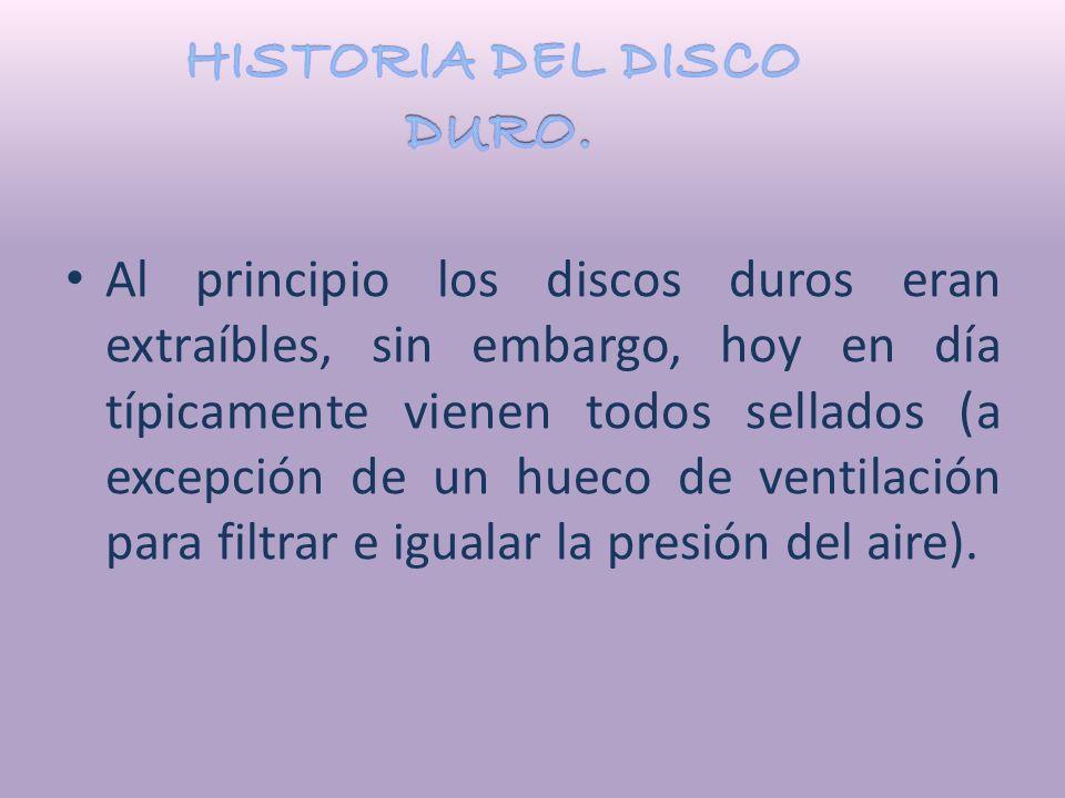 HISTORIA DEL DISCO DURO.