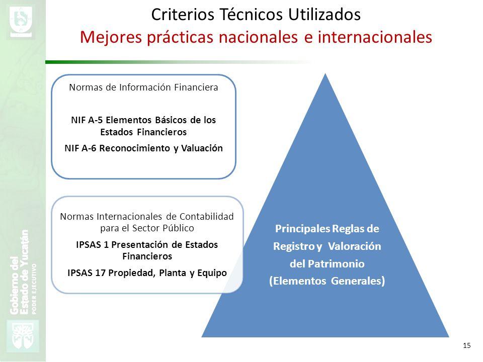 Criterios Técnicos Utilizados