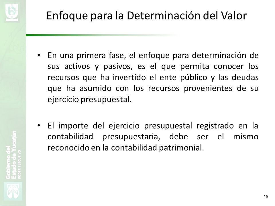 Enfoque para la Determinación del Valor