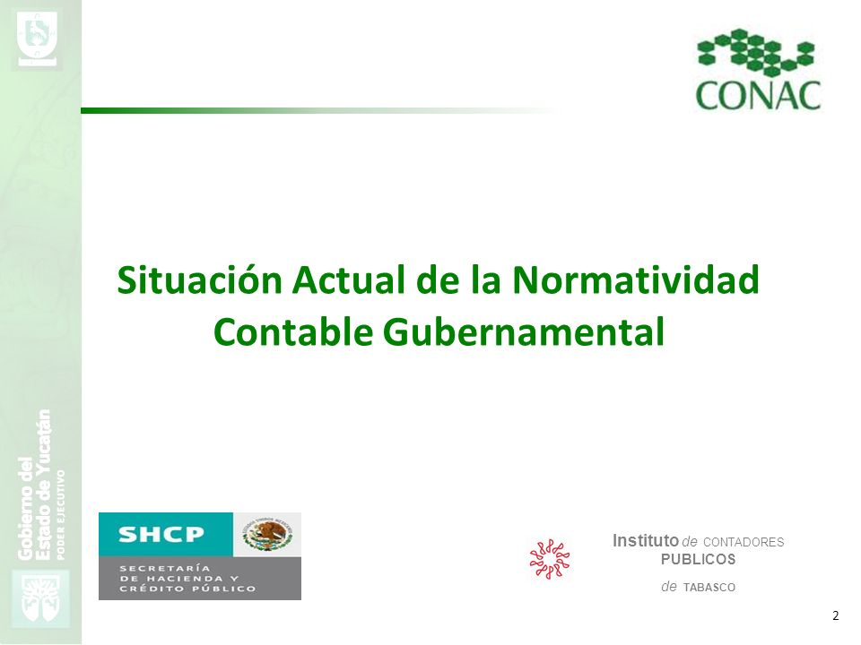 Situación Actual de la Normatividad Contable Gubernamental