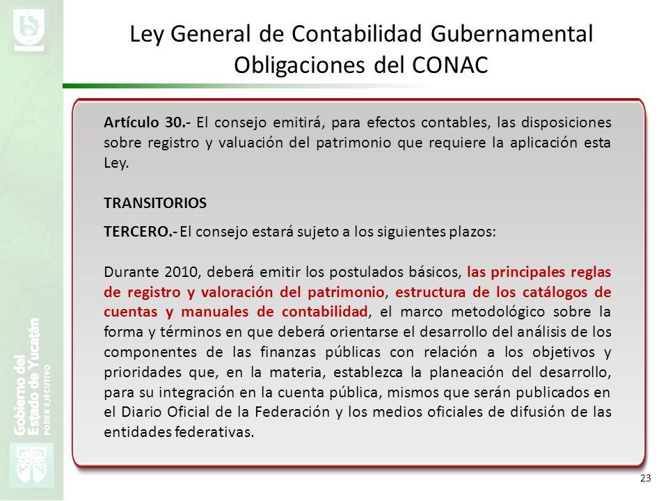 Ley General de Contabilidad Gubernamental Obligaciones del CONAC