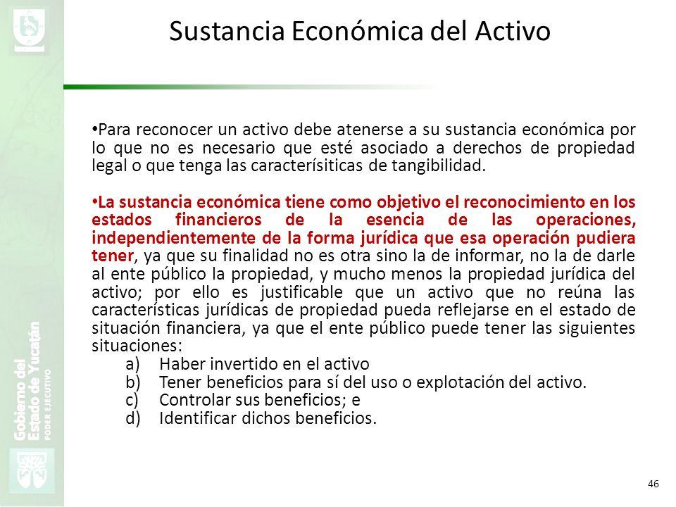 Sustancia Económica del Activo