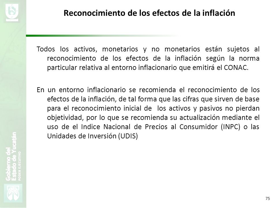 Reconocimiento de los efectos de la inflación