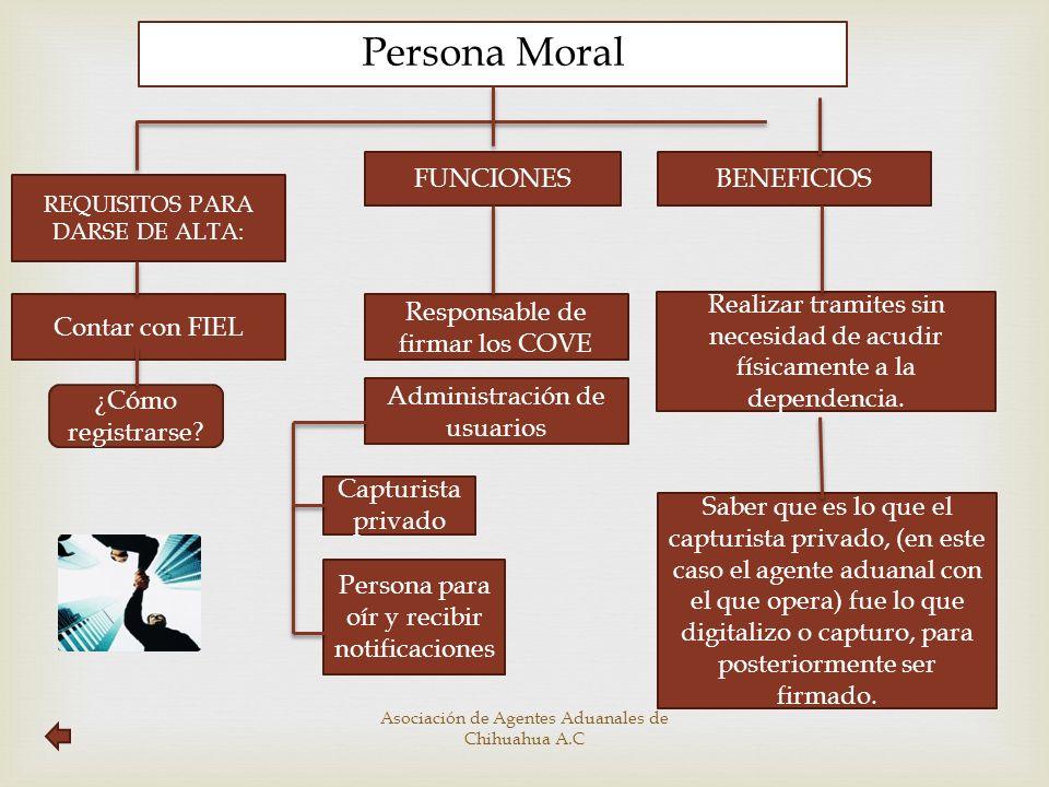 Persona Moral FUNCIONES BENEFICIOS Contar con FIEL