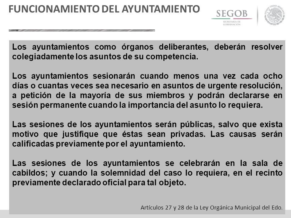 FUNCIONAMIENTO DEL AYUNTAMIENTO