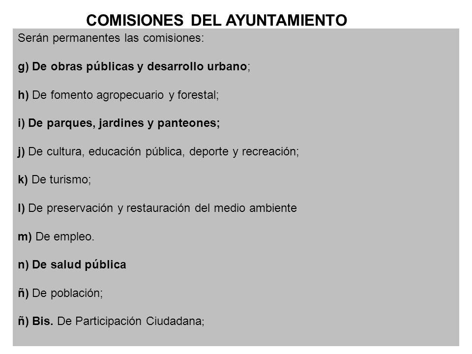 COMISIONES DEL AYUNTAMIENTO