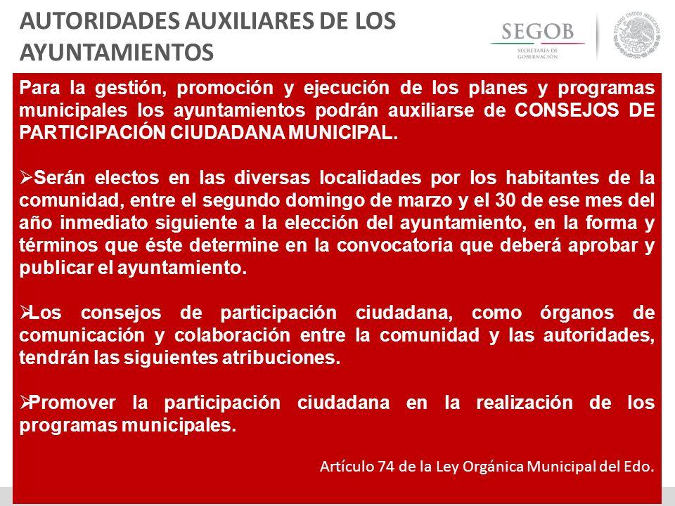 AUTORIDADES AUXILIARES DE LOS AYUNTAMIENTOS