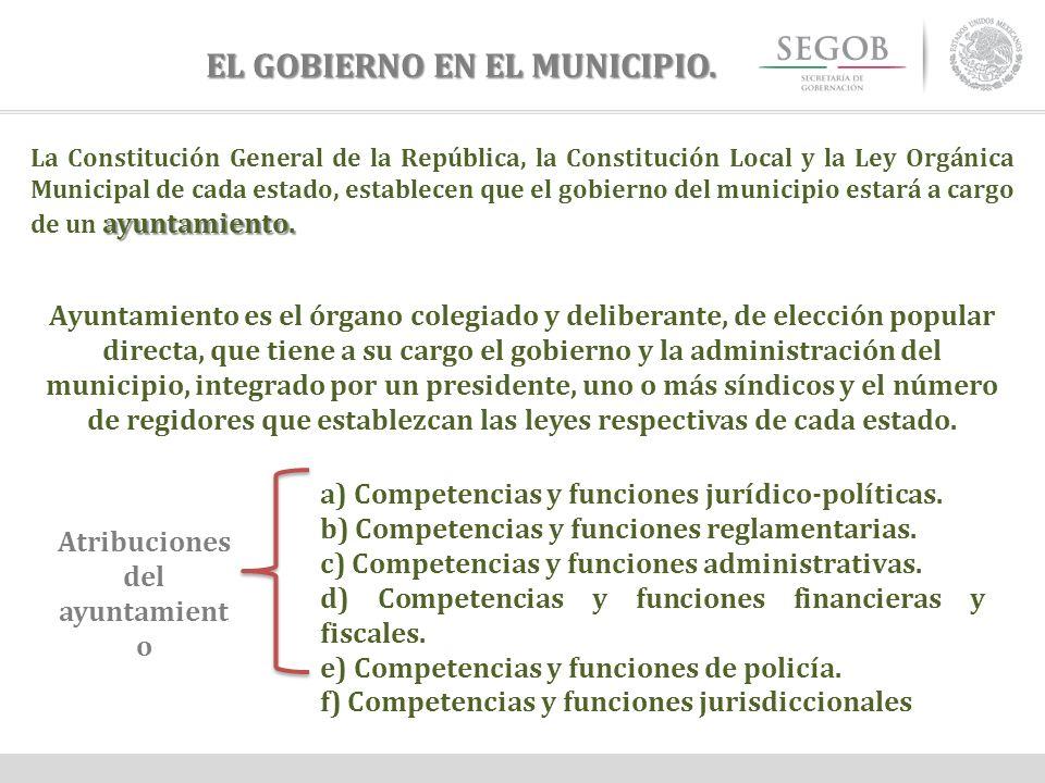 EL GOBIERNO EN EL MUNICIPIO.
