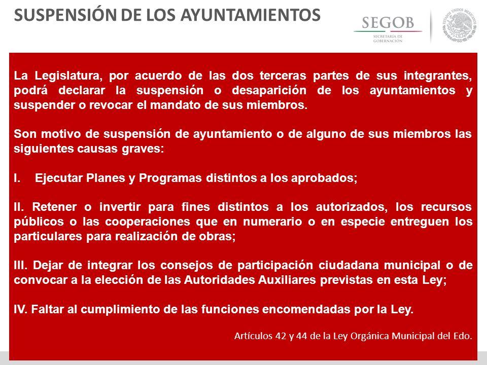 SUSPENSIÓN DE LOS AYUNTAMIENTOS