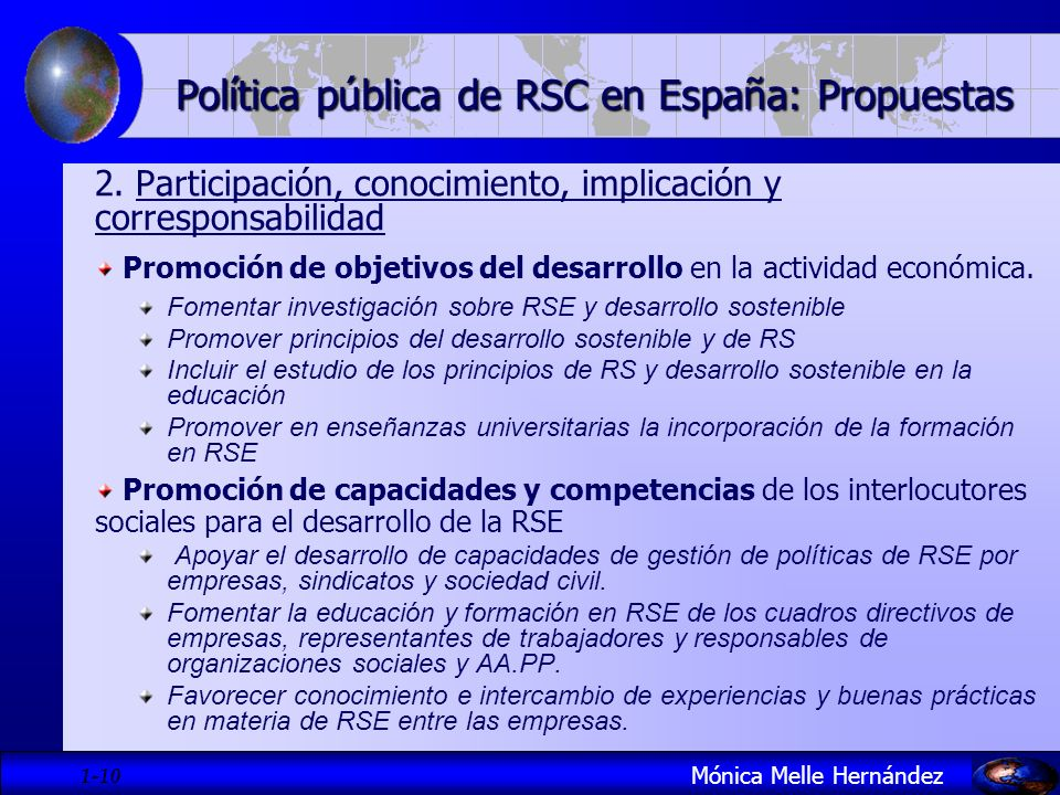 Política pública de RSC en España: Propuestas