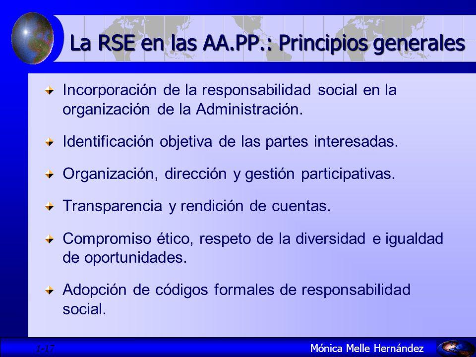 La RSE en las AA.PP.: Principios generales