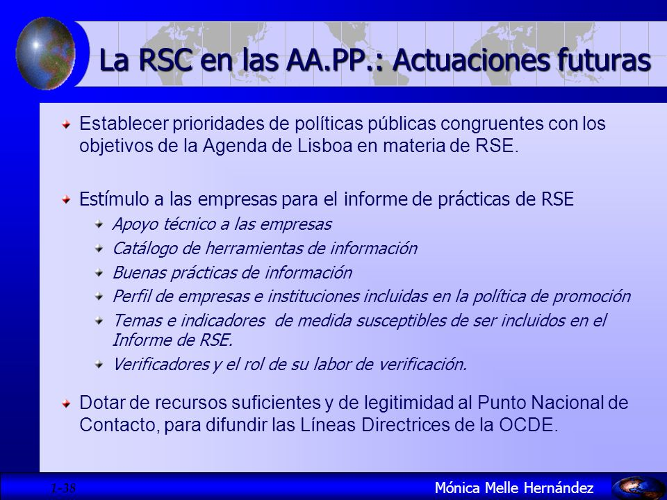 La RSC en las AA.PP.: Actuaciones futuras