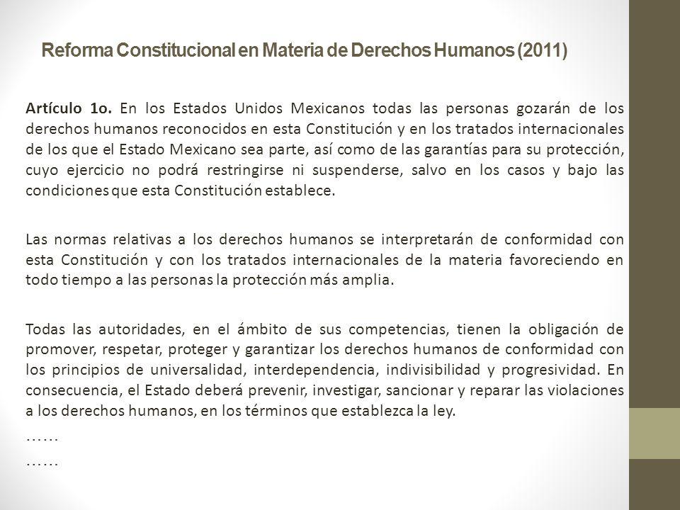 Reforma Constitucional en Materia de Derechos Humanos (2011)