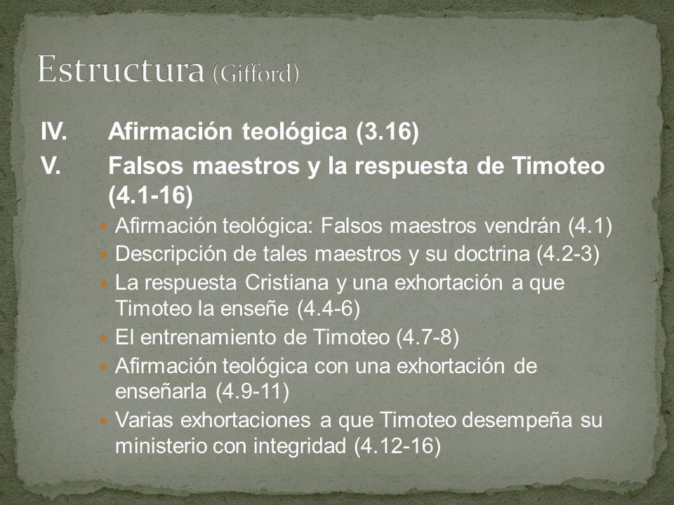 Estructura (Gifford) IV. Afirmación teológica (3.16)