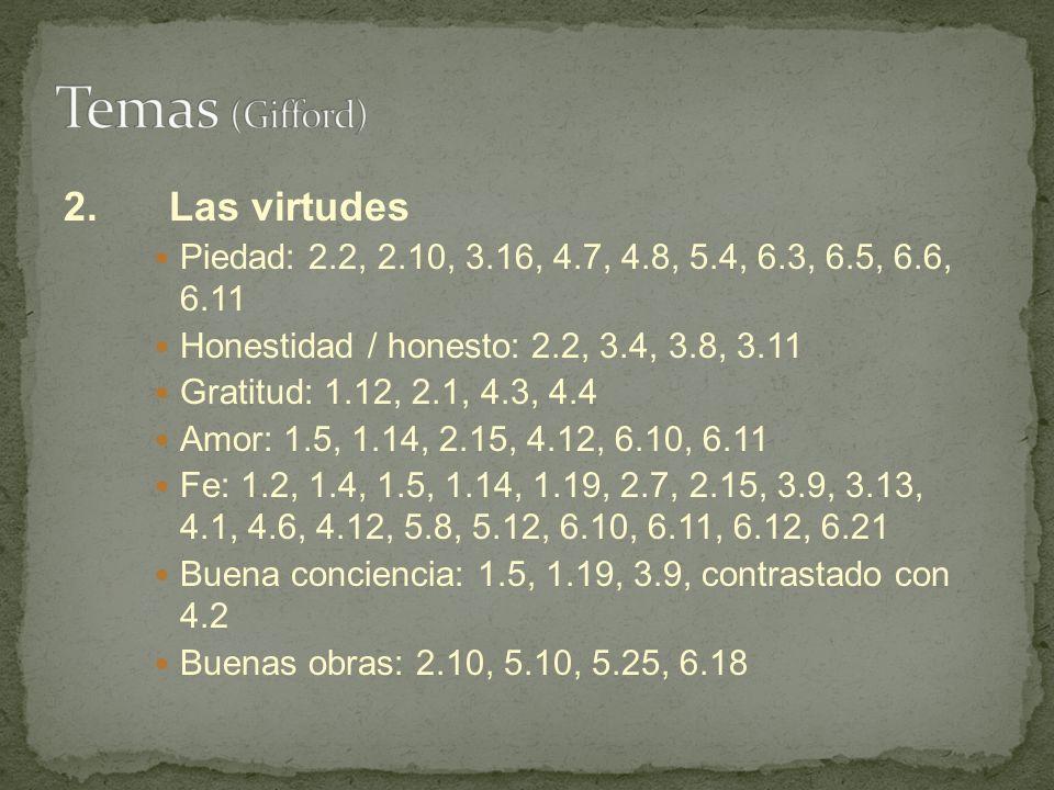 Temas (Gifford) 2. Las virtudes