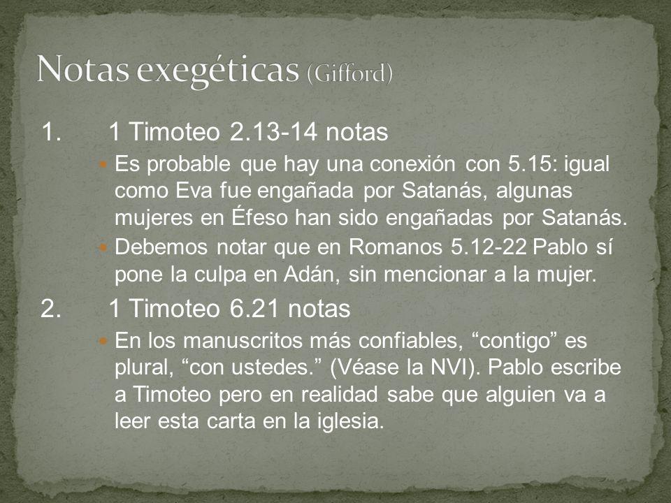 Notas exegéticas (Gifford)