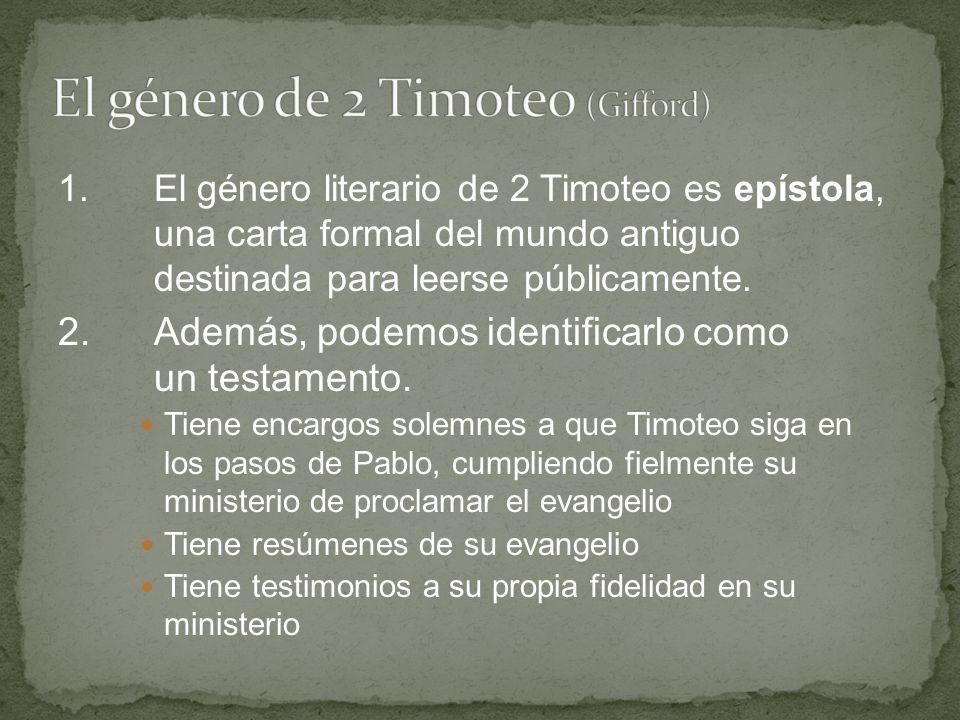 El género de 2 Timoteo (Gifford)