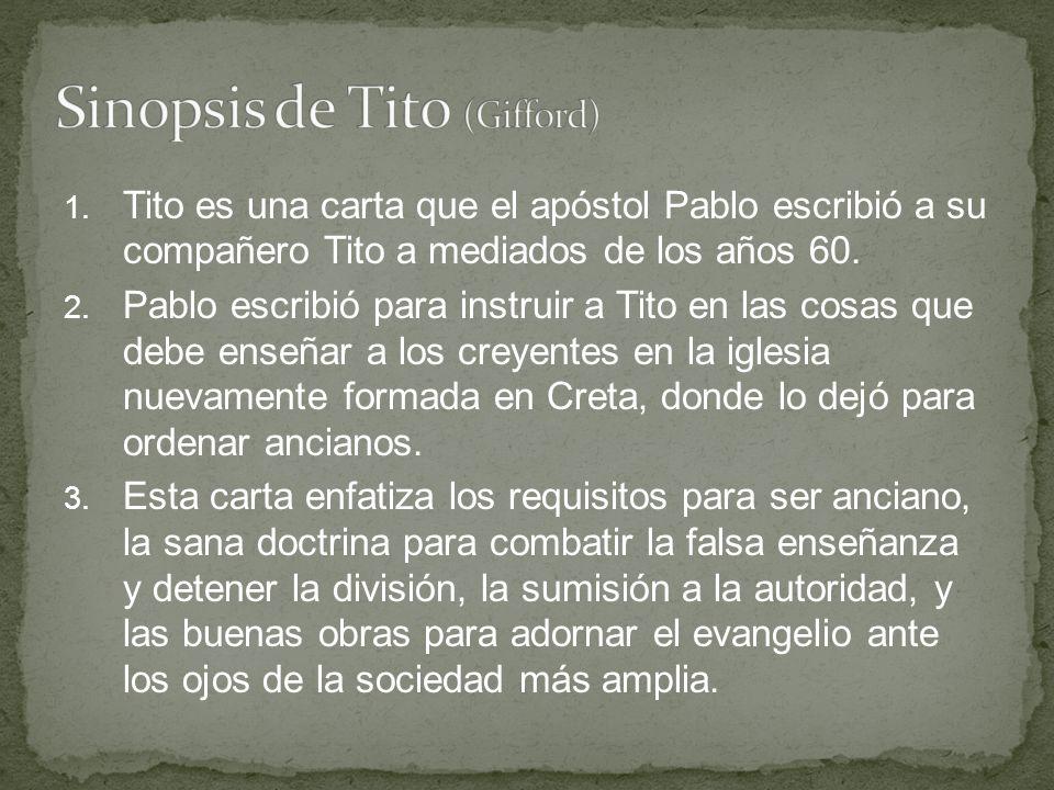 Sinopsis de Tito (Gifford)