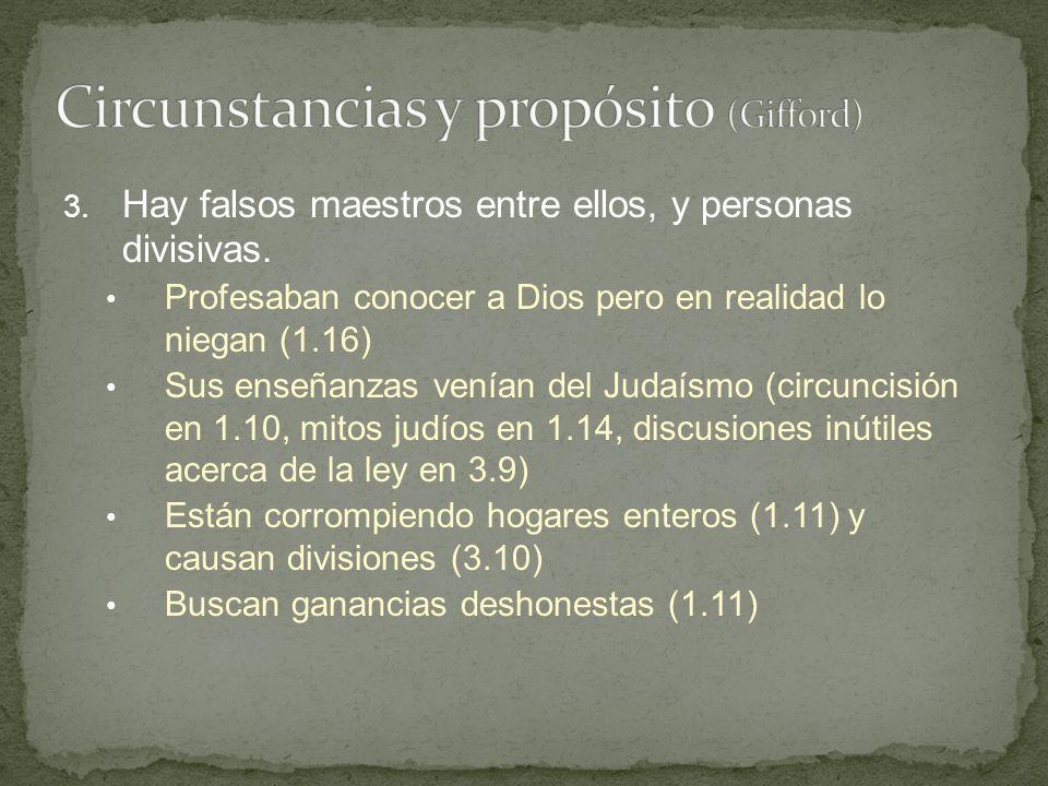 Circunstancias y propósito (Gifford)