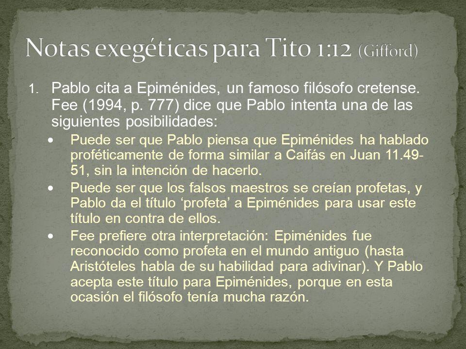 Notas exegéticas para Tito 1:12 (Gifford)