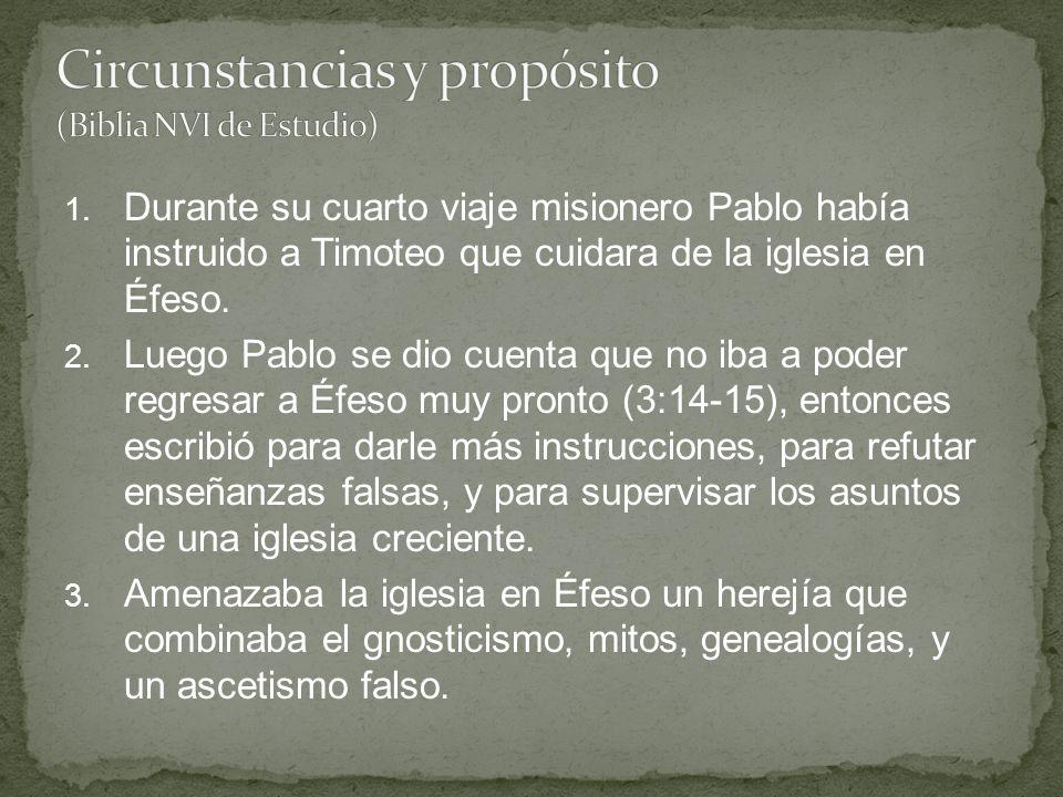 Circunstancias y propósito (Biblia NVI de Estudio)