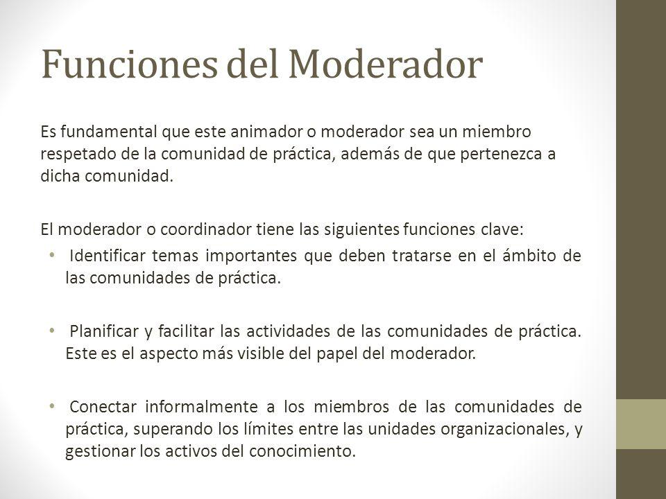 Funciones del Moderador