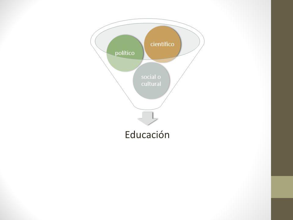 Educación social o cultural político científico