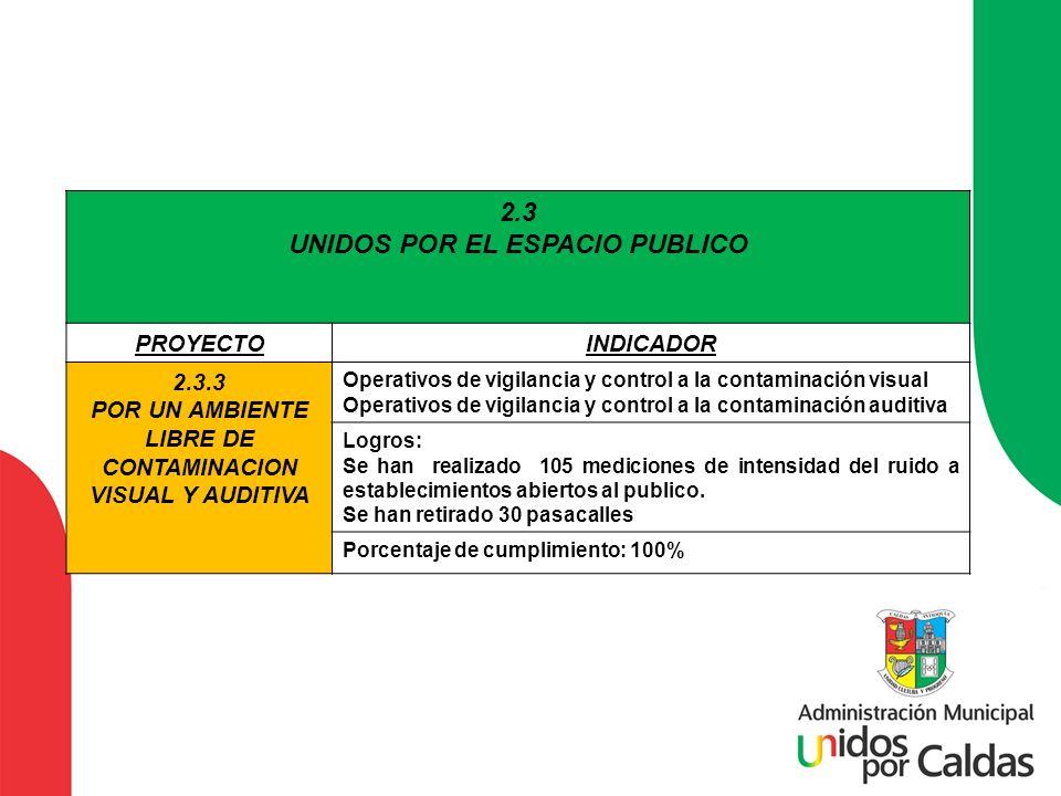 2.3 UNIDOS POR EL ESPACIO PUBLICO