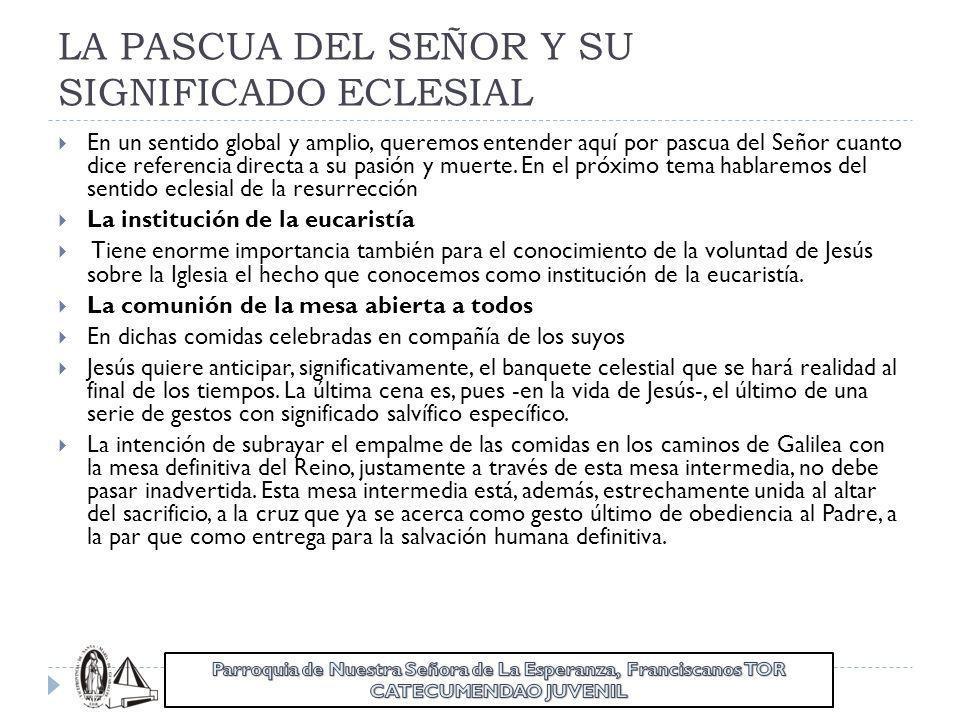 LA PASCUA DEL SEÑOR Y SU SIGNIFICADO ECLESIAL
