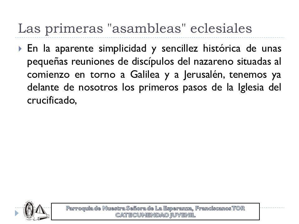 Las primeras asambleas eclesiales