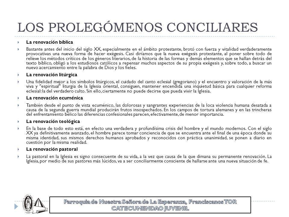 LOS PROLEGÓMENOS CONCILIARES