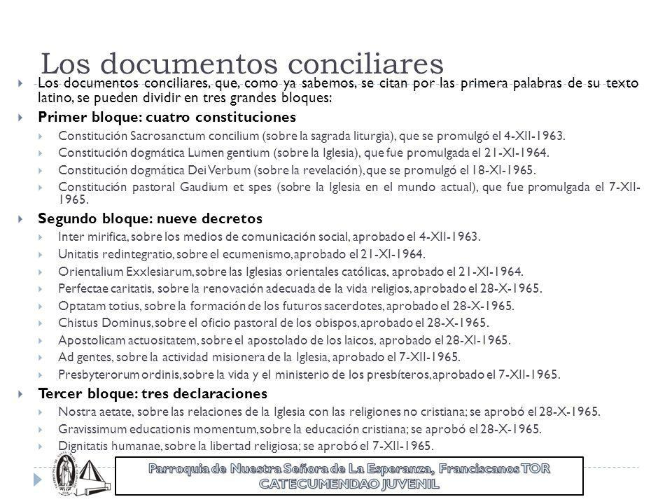 Los documentos conciliares
